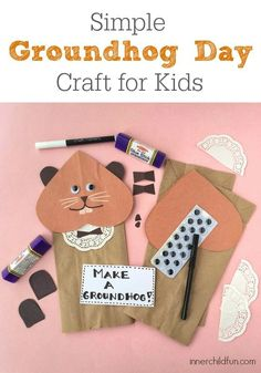 Simple Groundhog Day Craft for Kids.