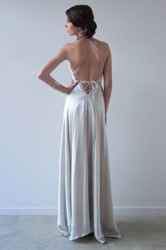Xanadu Gown - Silver - Tie Multi ways