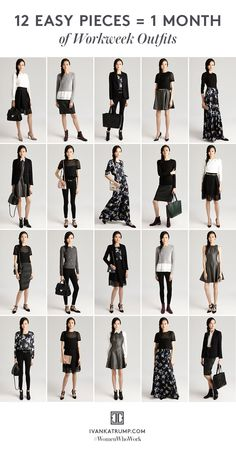 Trendy fashion outfits for work capsule wardrobe Ideas Work Fashion, Trendy Fashion, Mode Outfits, Fashion Outfits, Fashion Clothes, Travel Outfits, Capsule Wardrobe Work, Wardrobe Ideas, Work Wardrobe Essentials