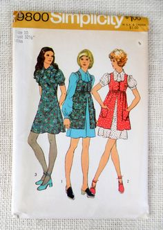 Vintage sewing pattern Simplicity 9800 by momandpopcultureshop
