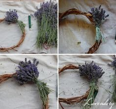 How to Make Lavender Wreath - Tutorial