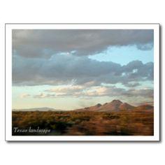 Texas Landscape Postcard