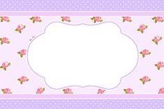 Montando a minha festa: shabby chic lilás & rosa