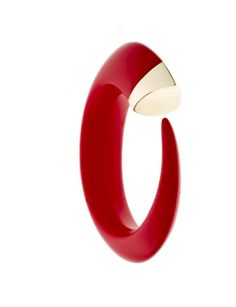 @Shaun Leane SILVER AND GOLD PLATE DARK RED CORAL BANGLE, available at Octium