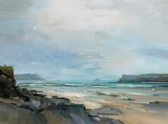 12.Sun Breaking Through Polzeath Cornwall 26x35 copy 2 David Atkins