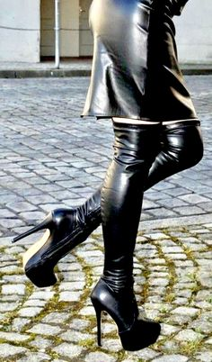 Black High Boots, Thigh High Boots Heels, High Leather Boots, Stiletto Boots, Hot High Heels, Platform High Heels, Heeled Boots, Skirts With Boots, Dress With Boots