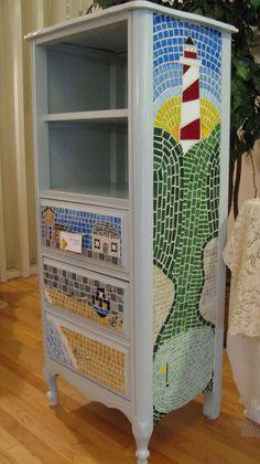 Gabinete de la casa de mosaico Seaside Beach por MosaicHearts