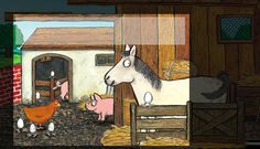 Step 5: Higgly needed to be in the pig sty looking for her eggs AND have the horse present too.