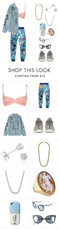 """""""Running out of titles"""" by nerdydork456 ❤ liked on Polyvore featuring L'Agent By Agent Provocateur, adidas, adidas Originals, Amanda Rose Collection, Topman and Fendi"""