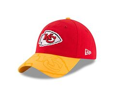 0cea64fb3efed NFL Kansas City Chiefs 2016 Womens Side Line LS 9TWENTY Adjustable Cap One  Size RedGold