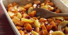 Glazed Sweet Potatoes with Apples and Cranberries | Make Good