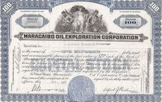 MARACAIBO OIL EXPLORATION CORPORATION......1964 STOCK CERTIFICATE