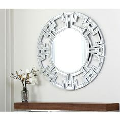36 Inches @Overstock.com - Abbyson Living Pierre Silver Round Wall Mirror $260 http://www.overstock.com/Home-Garden/Abbyson-Living-Pierre-Silver-Round-Wall-Mirror/7315967/product.html?CID=214117 $260.10