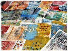 52 card pick up art medium class with Stephanie Ackerman