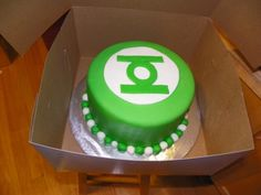 Green lantern cake, making one this weekend, like the simplicity of this one