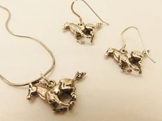 Gorgeous Sterling Silver Galloping Horse by TheJewelryCabinet, $65.00