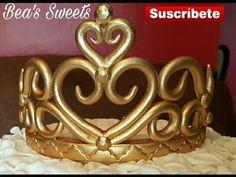 Cómo hacer en fondant una tiara o Corona. Paso a paso - YouTube