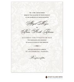 Stacy Claire Boyd   Wedding Invitations   In The Garden Invitation (SCB)   The PrintsWell Store