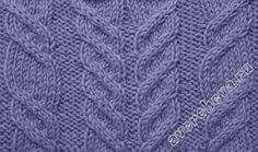 способы вязания жгутов | каталог вязаных спицами узоров