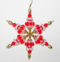Snowflake or Ornament or Team Colors Red Acrylic by MadeByMari, $6.50