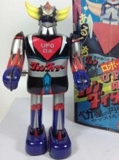 UFO Robot Grendizer Vintage Tin Toy Popy 1970s Wind-up Walking w/ Box JAPAN 426 #Popy