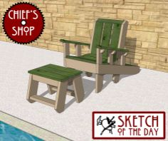 Sketch of the Day: Club Chair and Stool