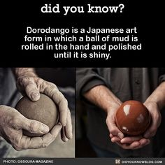 Nothing more beautiful than shiny balls of mud. #art #Japan #sculpture Toshio can do this!
