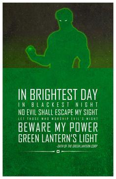 "Adam Thompson's ""Heroic Words Of Wisdom"": Green Lantern"