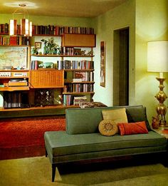 mid-century moidern homes | Image: Mid-Century Modern interior decor (click for larger image)