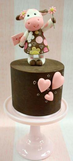 Valentine's Cow Cake