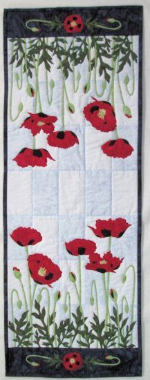 Poppies Table Runner - Finished Sample