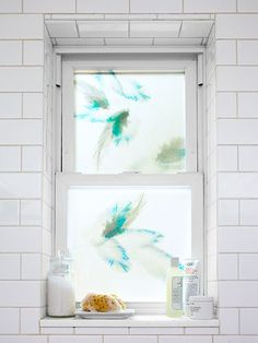 Decorative Window Film  #tintawindow #amazing this is just gorgeous. Would love this in the bathroom