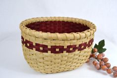 Double Wall Oval Handwoven Reed Table Basket by BrightExpectations, $38.00