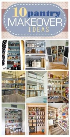 10 pantry makeover ideas. LOVE these solutions for storage and organization. by valeria