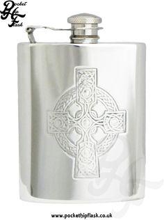 Celtic Pewter Hip Flask at The Pocket Hip Flask Co: