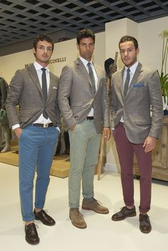 Color and Novelty Take the Spotlight at Pitti Uomo (Brunello Cucinelli) #menswear #mens #fashion
