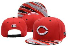 MLB Cincinnati Reds Red Snapback Hats Brim Colorful Stripes|only US$6.00 - follow me to pick up couopons.