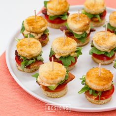 Mini BLTs with Avocado and Chipotle Mayo | This bite-sized twist on the classic…