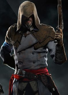 Assassin's Creed: Unity oh my god at first I thought it was ezio in revelations! Assassin S Creed Unity, Assassins Creed Cosplay, Assassins Creed Series, Skyrim, Arno Victor Dorian, Ninja Armor, Assassin's Creed Videos, Assassin's Creed Wallpaper, All Assassin's Creed