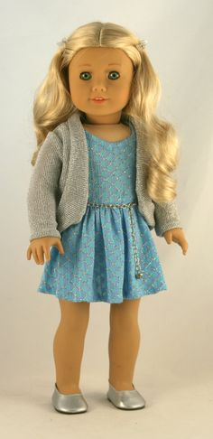 18 Doll Clothes fits American Girl  Party Dress by Forever18Inches, $32.00
