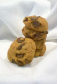 Natertot Bakery Carob Chip Dog Cookies. Our carob chip dog treat cookies are made with fresh carob (a healthy and safe alternative to chocolate). Each Carob Chip dog cookie measures about 2 inches in diameter. Make your fido the envy of the neighborhood.