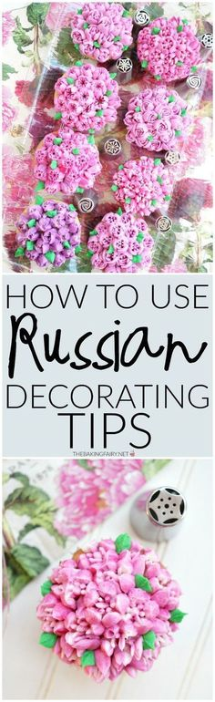 russian decorating tips 101 The Baking Fairy Frosting Flowers, Frosting Tips, Cupcake Frosting, Cake Icing, Frosting Recipes, Cupcake Cookies, Cupcake Toppers, Eat Cake, Buttercream Frosting