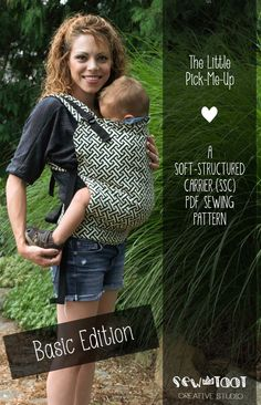 BASIC EDITION - SSC Baby Carrier Pattern -- 3 Sizes --  Soft Structured Carrier Pdf Sewing Pattern - Picture Tutorial This.