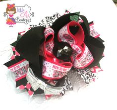 Born to be Spoiled OTT Bow by LittleAsBowtique on Etsy, $10.00