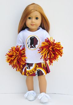 American Girl Clothes - Washington Redskins Cheerleader Outfit on Etsy, $30.00