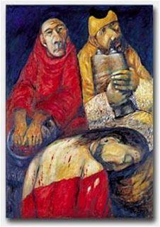 Via crucis con cuadros de SIEGER KODER Sieger Koder (Camino a la cruz):
