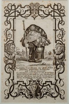 Attributed to Martin Engelbrecht (1684-1756): The Dwarf Bartholdus Gursalkawiz, as a Pilgrim to Compostella
