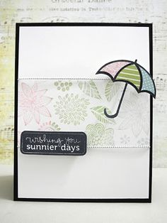 Card made by Jennifer for April Showers/ and or Flowers challenge