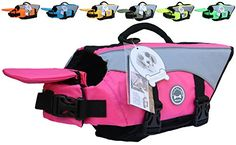 Vivaglory Dog Life Jackets with Extra Padding for Dogs, X-Small - Pink ** More info could be found at the image url. (This is an affiliate link) #DogApparelAccessories