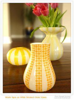 DIY - Washi Tape on Vases